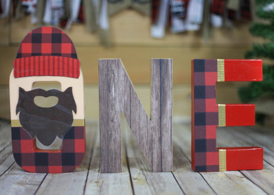Lumberjack First Birthday Letters - Itty Bits Designs