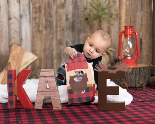 Lumberjack Name Letters - Itty Bits Designs