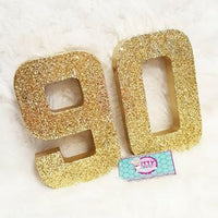 8 Inch Sparkle Number for Birthday Party - Itty Bits Designs