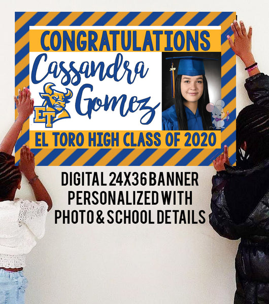 PERSONALIZED 2020 GRADUATION Banner - DIGITAL FILE
