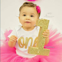 Gold Glitter Birthday Number - Itty Bits Designs