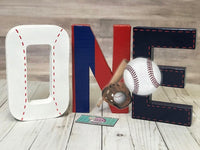 Baseball First Birthday Letters - Itty Bits Designs