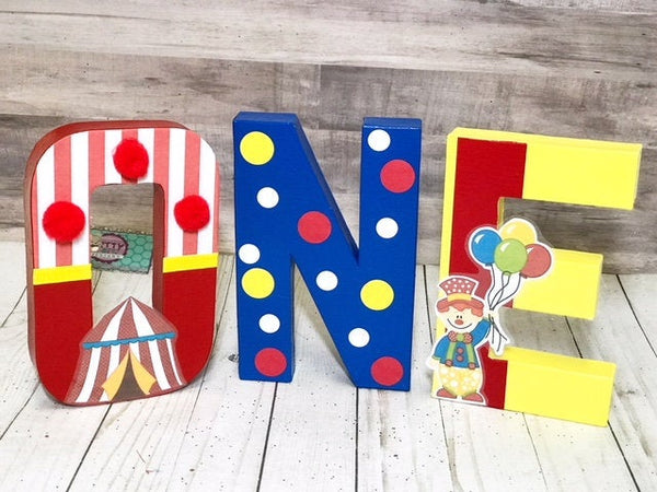 Circus/Carnival First Birthday Letters - Itty Bits Designs