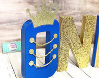 Royal Prince First Birthday Letters - Itty Bits Designs