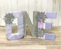 Winter ONEderland Birthday Letters - Lavender & Silver - Itty Bits Designs