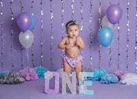 Winter ONEderland Birthday Letters - Lavender & Blue - Itty Bits Designs