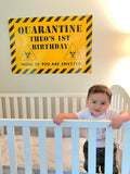 Quarantine celebration Banner - Personalized - DIGITAL FILE ONLY - NO SHIPPING