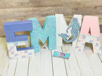 Pastel Mermaid Themed Birthday Letters - Itty Bits Designs