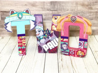 Girl Patrol Pups Themed Birthday Letters - Itty Bits Designs