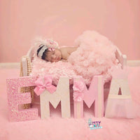 The Emma - Pink & Cream Nursery Decor - Itty Bits Designs