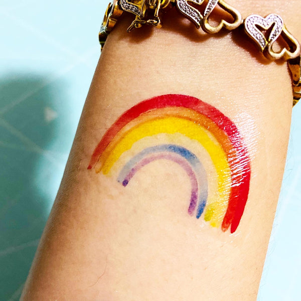 Colorful Rainbows Temporary Tattoos - Set of 25