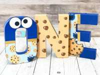 Cookie Monster Themed Birthday Letters - Itty Bits Designs