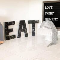 Marble EAT letters - 8 inch - Itty Bits Designs