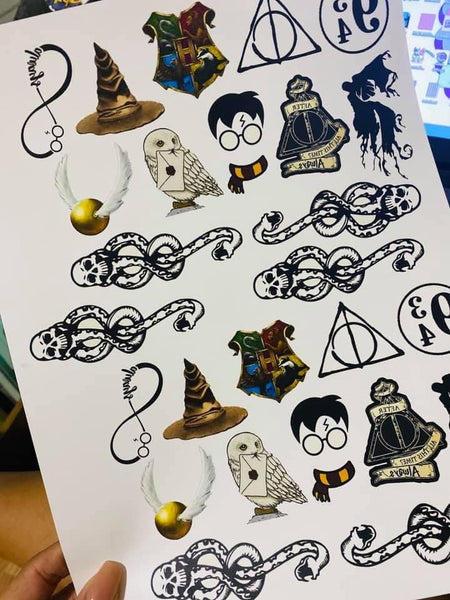 Potter Squad Temporary Tattoos - Set of 25
