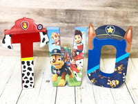 Patrol Pups Themed Birthday Letters - Itty Bits Designs