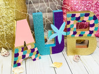 Mermaid Themed Birthday Letters - Itty Bits Designs