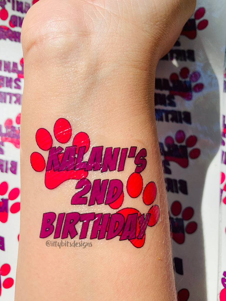 Buy Custom Temporary Tattoos - 24 Tattoos at Itty Bits Designs for ...