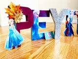Frozen Ice Queen Themed Birthday Letters - Itty Bits Designs