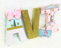 Pastel Carousel Themed Birthday Letters - Itty Bits Designs