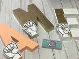 ASL Name Letters (Sign Language) - Itty Bits Designs