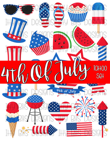 American Theme Tattoos - Patriotic Party Favor - Itty Bits Designs