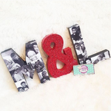Memory Letter or Number - 12 Inch w photos - Itty Bits Designs