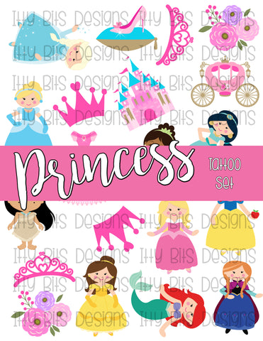 Princess Tattoos - Girly Party Favors - Itty Bits Designs