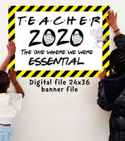 Quarantine TEACHER Banner - DIGITAL FILE - INSTANT DOWNLOAD - Itty Bits Designs