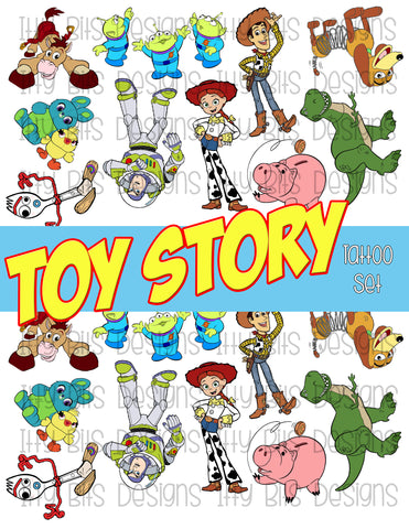 Toy Story Tattoo grab bag - Toy Story Cartoon Party Favors - Itty Bits Designs