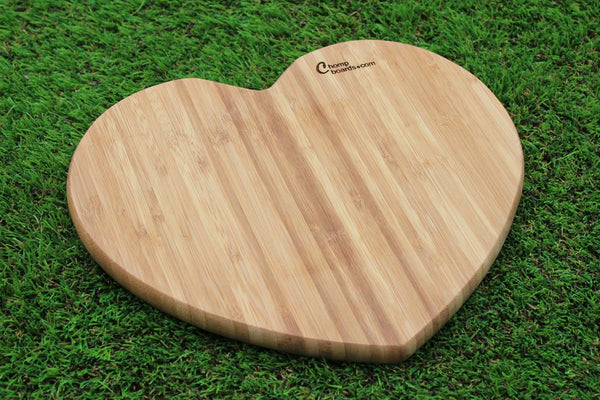 Chompboards.com - [product_type ] - 'Heart' Personalised Cheese Board