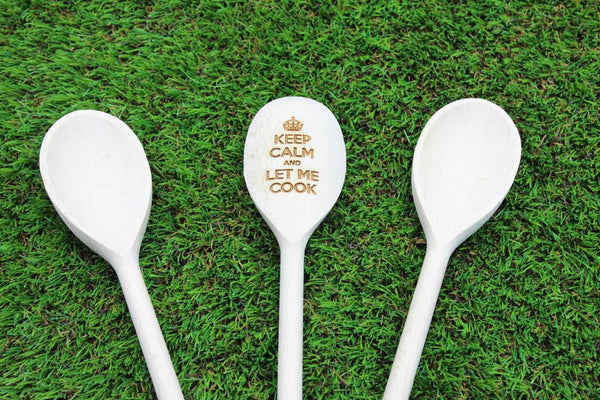 Chompboards.com - [product_type ] - 'Keep Calm & Let Me Cook' Personalised Wooden Spoon