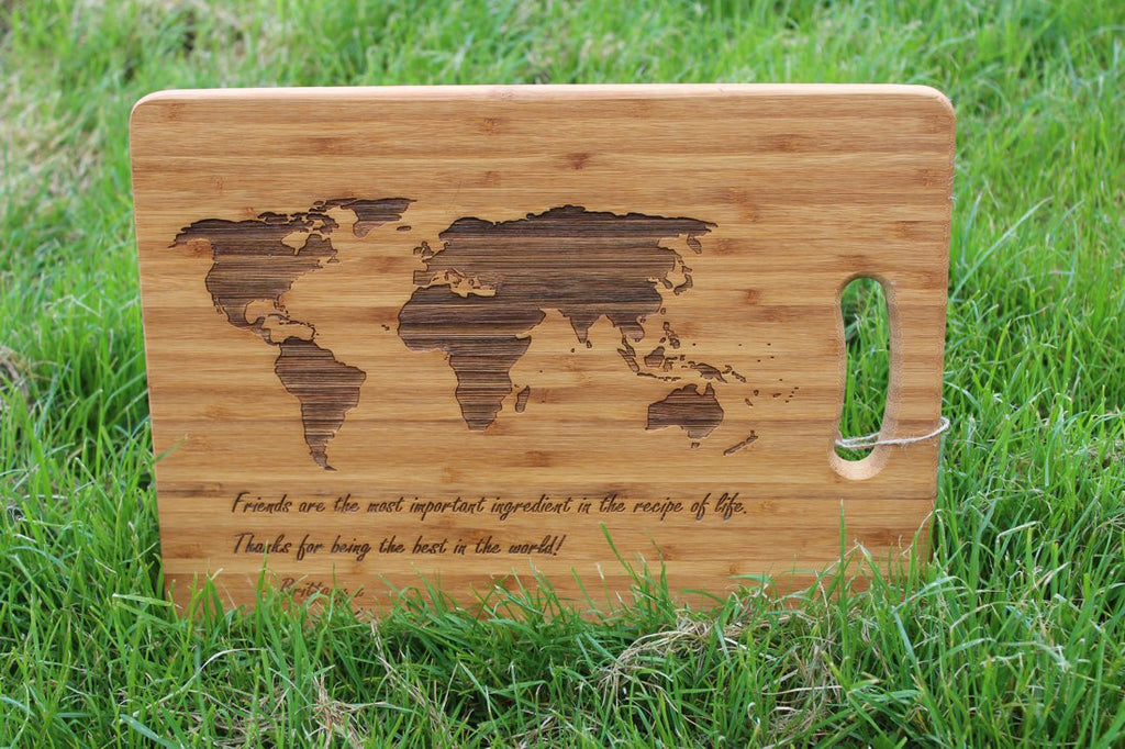 Chompboards.com - [product_type ] - 'World Map' Personalised Chopping Board