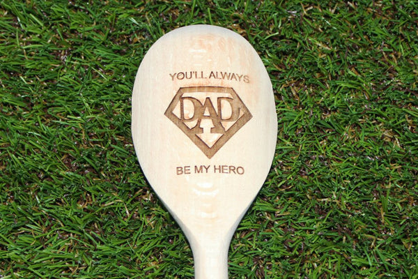 Chompboards.com - [product_type ] - 'Superdad' Personalised Wooden Spoon