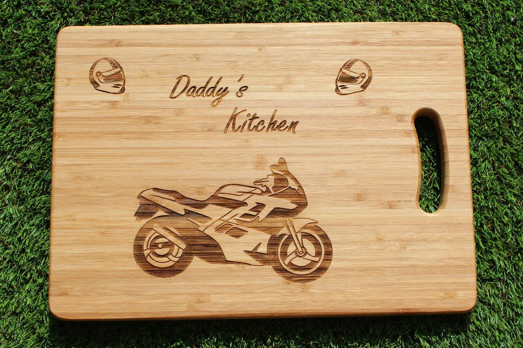 Chompboards.com - [product_type ] - 'Motorbike / Motorcyle' Personalised Chopping Board