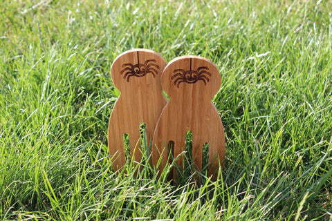 Chompboards.com - [product_type ] - 'Sid the Spider' Bamboo Salad Servers