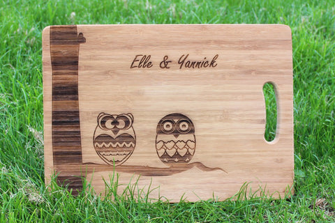 Chompboards.com - [product_type ] - 'Owls' Personalised Chopping Board