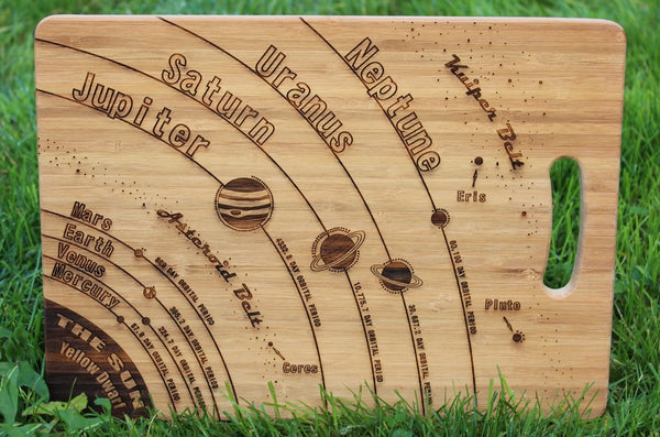 Chompboards.com - [product_type ] - 'The Solar System' (Space) Custom Chopping Board