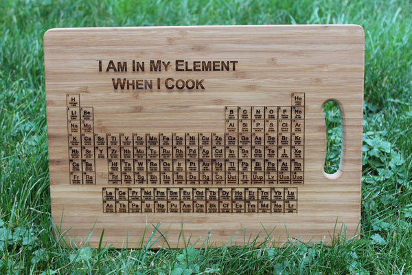 Chompboards.com - [product_type ] - 'Periodic Table of Elements' Personalised Chopping Board