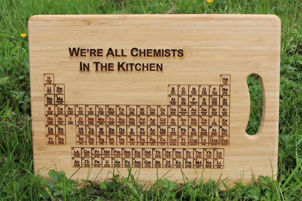 39 periodic table of elements 39 personalised engraved chopping board - Periodic table chopping board ...