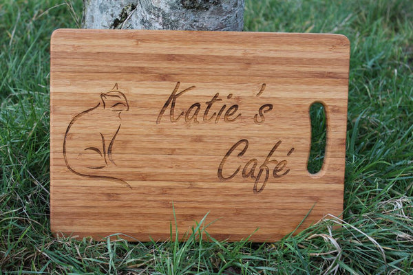 Chompboards.com - [product_type ] - 'Pampurred Cat' Personalised Chopping Board