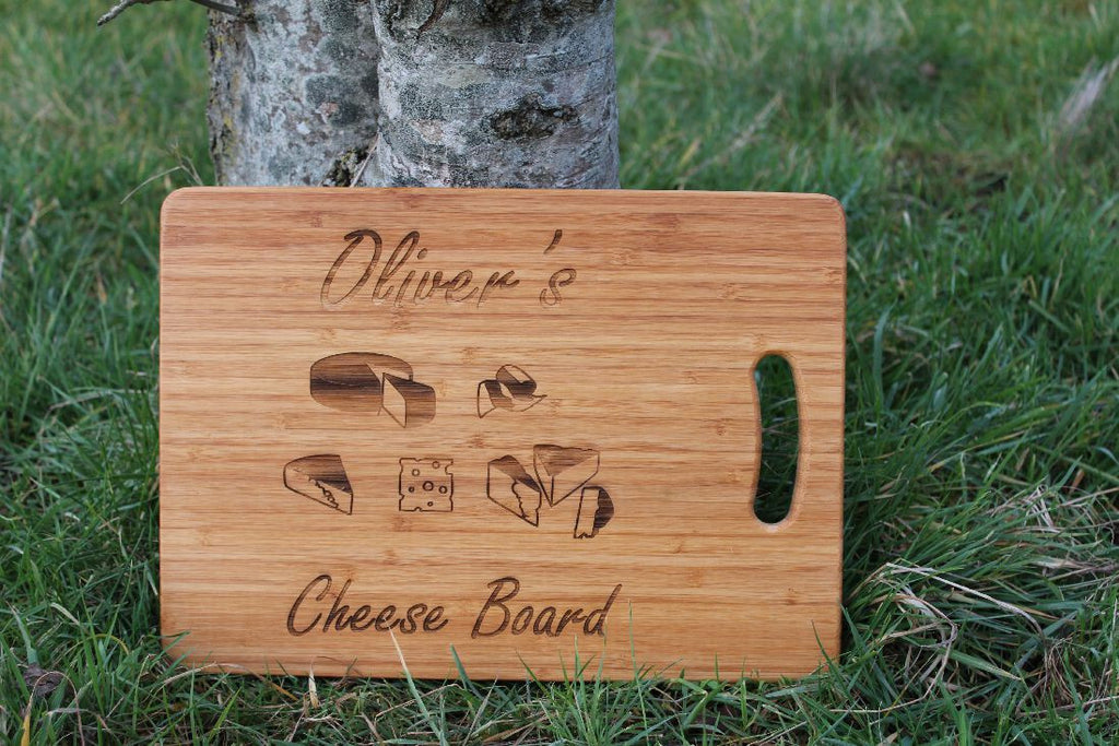 "Chompboards.com - [product_type ] - Personalised ""Cheese Board"" (Square)"