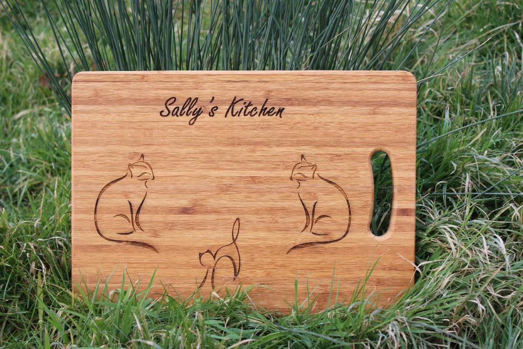 Chompboards.com - [product_type ] - 'Three Cool Cats' Personalised Chopping Board