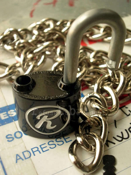 "NANA REN SEX PISTOL SID CHAIN ""R"" NECKLACE padlock BLAK"