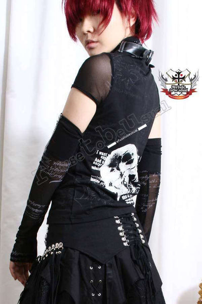 DARK KNIGHT Visual Kei Punk Goth TOP+WRAP+GLOVE