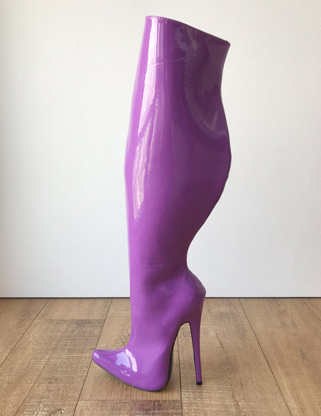 RTBU CHRIS 18cm Stiletto 65cm Hard Shaft Customized Mid-Thigh Boot Purple