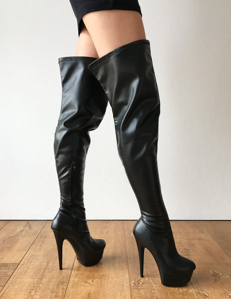 RTBU IAN 15cm Platform 60cm Crotch Fetish Runway Personalized Shaft Black Matte