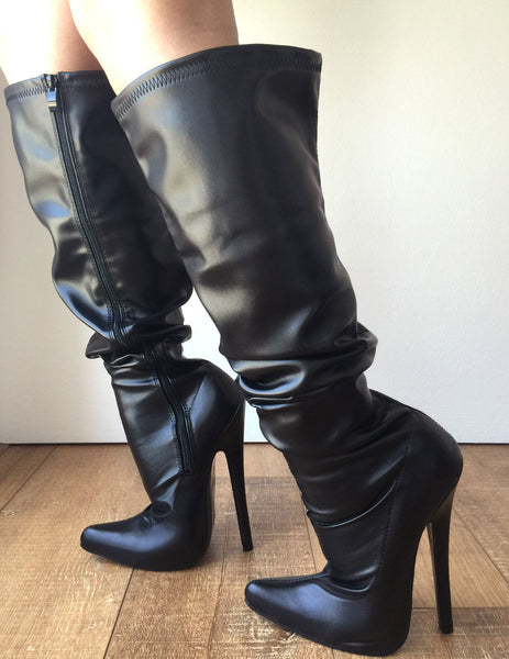RTBU PIRATE 18cm Stiletto Slouch Gathered Over Knee Hi Boots Customized Shaft