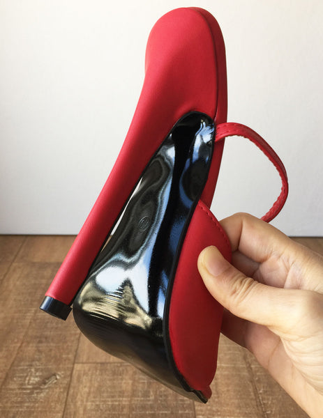 RTBU SALMA Wrap Strap Sandals Mistress Stiletto Heel Fetish Slipper Red Matte