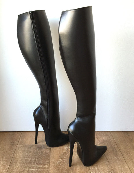 RTBU TALMA Hard Shaft Knee Hi 18cm Stiletto Vegan Boots Personalized Shaft