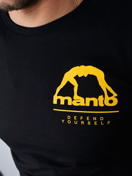 MANTO Camiseta de Manga Larga WORLDWIDE Negra